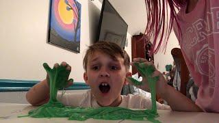 Brother tries to make slime! (Again) ???? #slime #diy #fail #funny