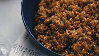 Lemon Brown Rice with Garlic and Thyme | Recipe | Food & Wine