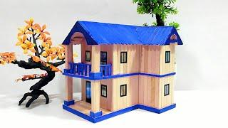 How to Make Popsicle Stick House With Waste Material