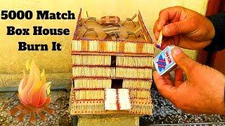 How to Make a Match House Fire at home - Match stick house fire [Hindi]