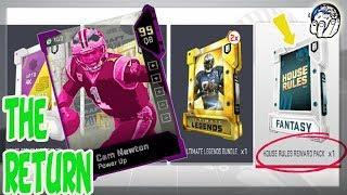 10 WIN HOUSE RULES PACK! 99 OVR CAM NEWTON RETURNS! BEST STRATEGY FOR FREE HOUSE RULES PACK | MUT 19