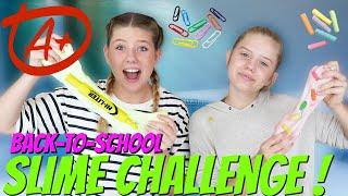 BACK TO SCHOOL SLIME CHALLENGE || Taylor and Vanessa