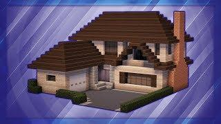 Minecraft: How To Build A Large Suburban House Tutorial (#1)