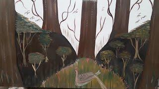 how to make tree on wall with paint |  Tree on bedroom wall 2019
