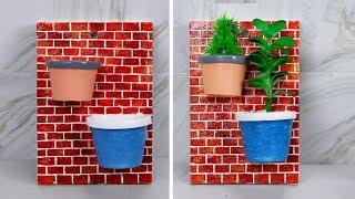 Unique Wall Hanging Ideas || Wall Hanging Flower Vase || Wall painting designs ideas