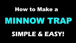 How to make an Amazing Minnow Trap!  Unbelievably Effective and Easy to make!