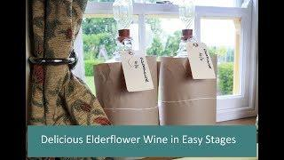 Making Elderflower Wine,  its delicious & free (Part 2)