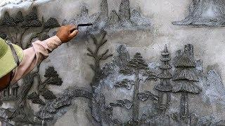 Building design - Beautiful Art Rendering Sand And Cement On Wall Concrete - House construction