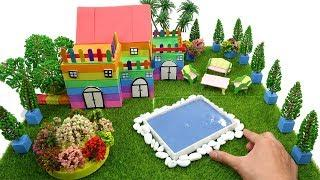 If You Are Happy Song | How To Make Villa House with Colored Sand for Kids