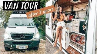 VAN TOUR after 2 years living in our TINY HOUSE on wheels