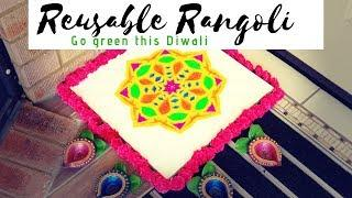 A Rangoli that can be used as Wall Decor   Go Green this Diwali 2018