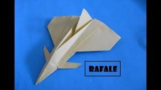 How To Make Paper Plane - Easy Paper Plane Origami Jet Fighter Is Cool | Rafale