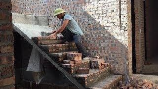 Smart Techniques Construction Stair For House - How To Build Stair Using Brick Step By Step
