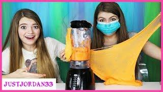 Making Orange Slime In A Blender / JustJordan33