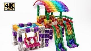 DIY How To Make Indoor Playground with Magnetic Balls ( ASMR )    Magnet World 4K