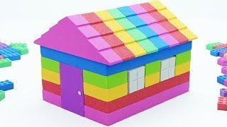 Learn Colors Kinetic Sand Rainbow House Surprise Toys How To Make For Kids