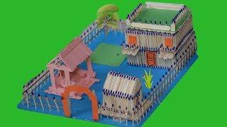How To Make A Beautiful House From Match Sticks || By OddMeNot DIY Crafts