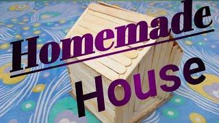 How to make popsicle stick house/ How to make ice cream sticks house