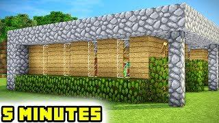 Minecraft: How to Build a 5 Minute Modern Starter House
