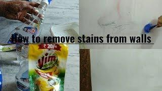 Diwali cleaning vlog 2||  how to remove pencils stains from walls