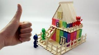 How To Make Kinetic Sand Rainbow Stick House Learn Colors Nursery Rhymes Song Videos For Kids