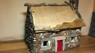 How To Make Miniature Living Garden Cottage, Fairy House, Garden Light