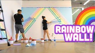 PASTEL RAINBOW WALL - Office Flipper IRL Ep.1| iHasCupquake