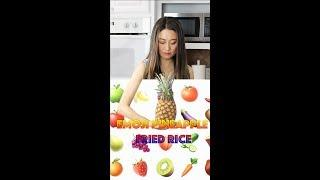 Emoji Pineapple fried rice? The best fried rice recipe (Vegan option)