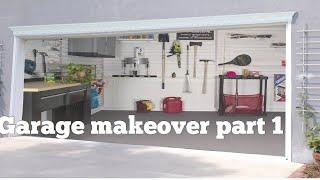 New!! Garage Makeover part 1 || how to paint garage floor