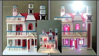 How to make cardboard house / cardboard and paper house