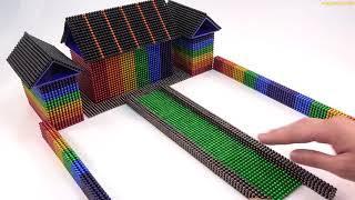 ASMR - How To Make Villa House with Magnetic Balls, Slime   Mr Balls #mgt