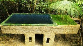 Build most Beautiful Biggest swimming pool On the Villa House By Bamboo
