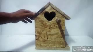 how to make a bird house/cara membuat glok buat lovebird