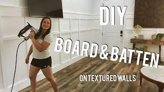 DIY Board and Batten - how to style textured walls