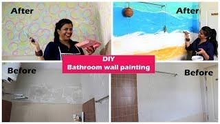 DIY Bathroom Wall Painting | Makeover Under INR 2000 | #9byNamrata