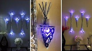 Diy Modern Wall Decor Lighting  Large Wall Covering in 5 Minutes That is Renter Friendly!