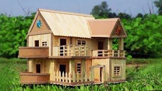 How to Make a Modern Popsicle Sticks House - Building Ice-cream Stick House
