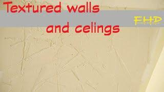 How to texture walls - textured ceiling with drywall mud