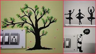 Creative Switchboard diy ideas, wall painting ideas, acrylic wall painting, wall decor diy ideas