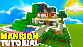 "Minecraft Tutorial: How To Make A Modern Mansion #11 ""Water Slide House"""