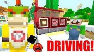 Minecraft | Nintendo Fun House | Bowser Jr Learns How To DRIVE! [404]