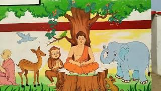 Buddha Wall Painting ideas || Awesome Wall Painting| A.K.GUPTA