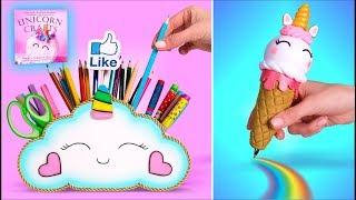 ????DIY: Unicorn School Supplies || Infinite Pen and Pencil Holder || Unicorn Crafts Book ????