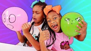 Making Slime With Funny Balloons and Slushie Beads