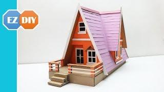 How to Make a Beautiful Mansion House from Cardboard (Dream House) - Amazing Cardboard DIY