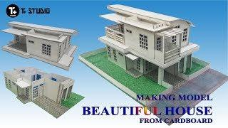 CARDBOARD USE | HOW TO MAKING MODEL AN ELEGANT HOUSE #STEP BY STEP & FULL VIDEO