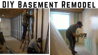 Affordable DIY Basement Remodel // Framing, Drywall, & Painting How To