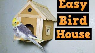 how to make a bird house from cardboard ???? HOUSE bird????HOW TO BUILD A BIRD HOUSE
