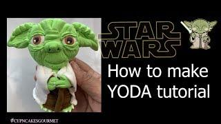 How to make YODA   STAR WARS tutorial COMPLETE   Cold Porcelain   Fondant   Clay   CCG