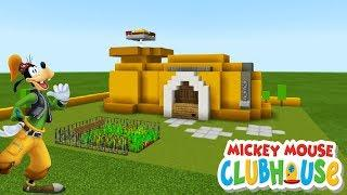 "Minecraft Tutorial: How To Make Goofys House from Mickey Mouses Clubhouse ""Goofy House Tutorial"""